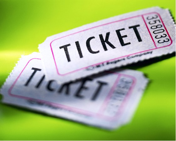 Tickets - Green Background
