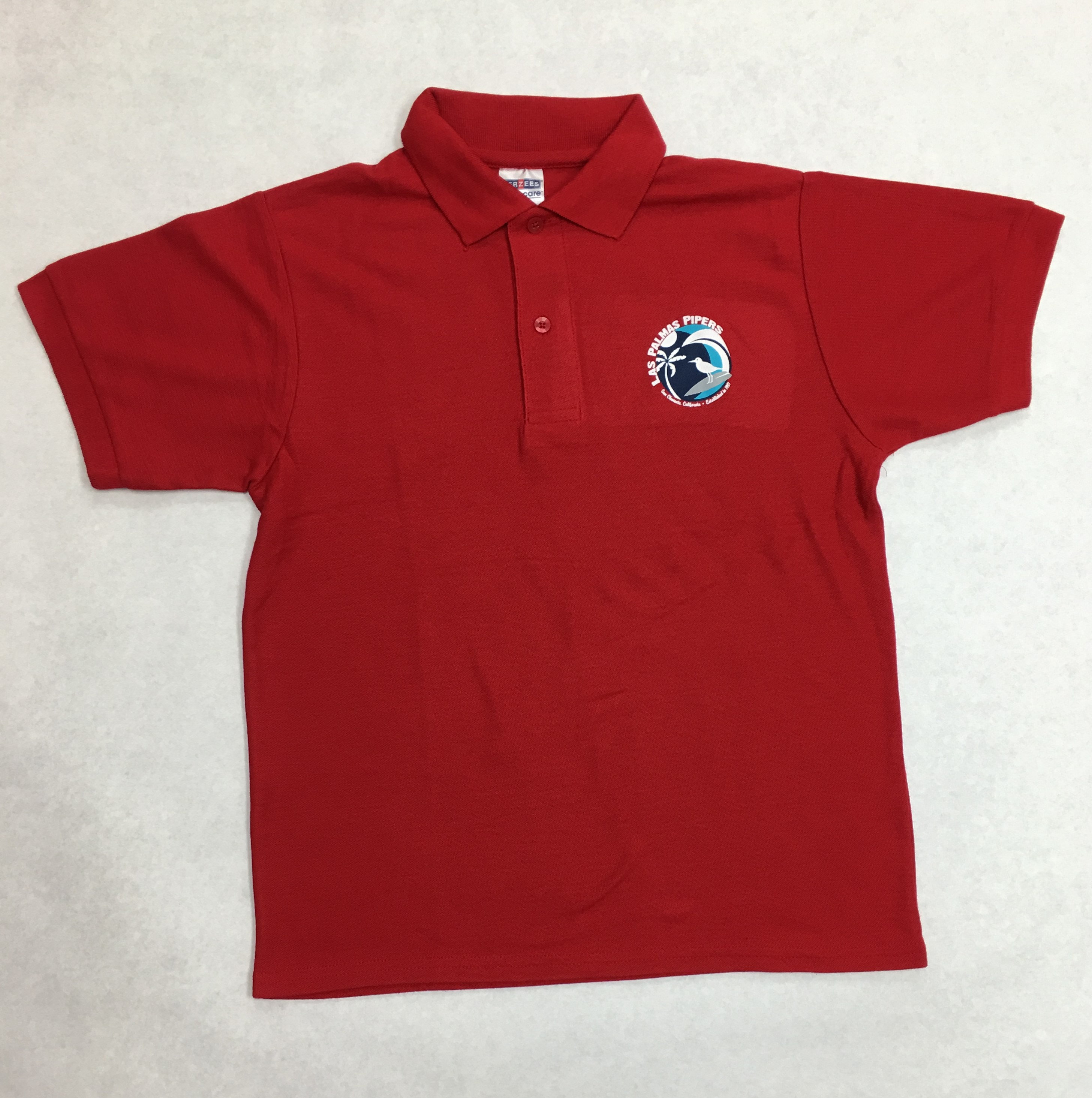 Pique Polo Colors Blue Red And White Online Orders Are Delivered To Your Student Via The Clroom Usually By Following Friday Allow Up 7 Days