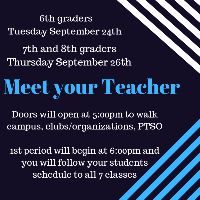 Bridgewater Middle School PTSO - Meet Your Teachers- 7th and
