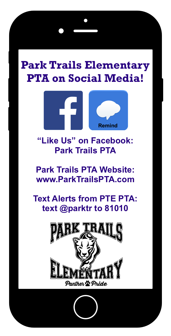 Park Trails Elementary PTA - Stay Connected via Social Media