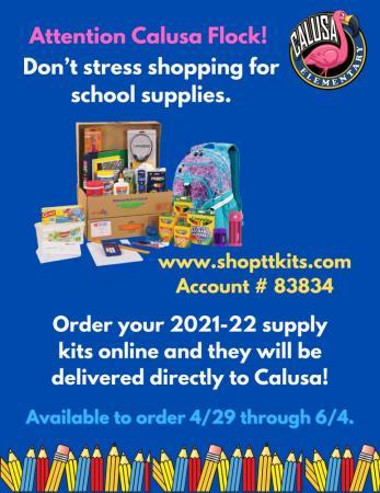 2021-2022 School Supply Kits