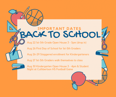 Back to school important dates